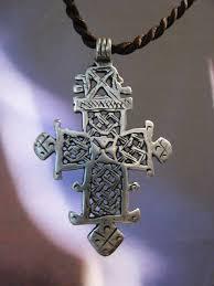 silver coptic orthodox cross ethiopia 19th century