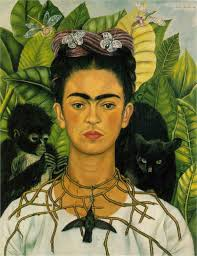 self portrait thorn necklace and hummingbird by frida self portrait thorn necklace and hummingbird 1940 by frida kahlo