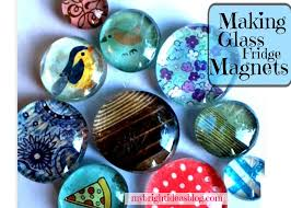 make glass stone gems into gorgeous magnets
