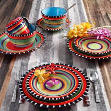 handpainted 16 piece dinnerware dish set dinner crockery ceramic colourful