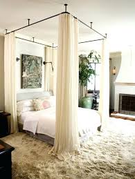 Fabulous Sheer Curtains For Canopy Bed Ideas With Best Ceiling On ...