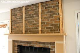 how to cover brick fireplace with wood makeover the lettered cottage free covered tv stand canada t