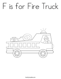 Small Picture F is for Fire Truck Coloring Page Twisty Noodle