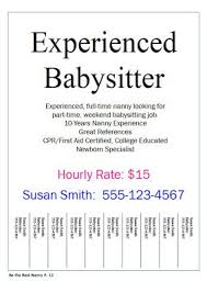 Baby Siter Job Nanny Job Flyers Have You Ever Hung Up Flyers To Find A