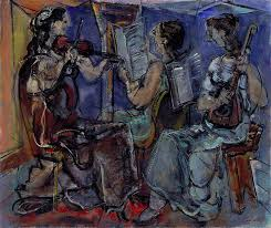 max weber polish born american expressionist painter trio 1953 oil on canvas 25 ¼ x 30 in smithsonian american art museum washington d