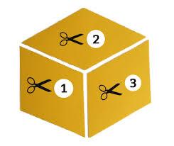 """DIY """"Tumbling Blocks"""" Wall Art – organizedCHAOSonline & organizedCHAOSonline - tumbling blocks template Adamdwight.com"""