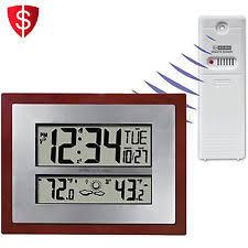 sharp wireless outdoor sensor. atomic clock temperature weather forecast indoor outdoor date digital wireless sharp sensor