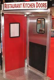 restaurant kitchen doors on display