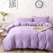 light purple duvet cover king cotton elegant bedding sets queen size lilac
