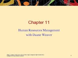 Chapter 11 Human Resources Management with Duane Weaver