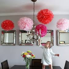 Large Tissue Paper Flower Us 141 1 17 Off 29 Colors 100pcs Large Tissue Paper Pompoms 18inch 45cm Burgundy Color Paper Flowers Balls Baby Shower Wedding Decoration In