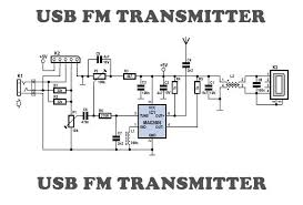 usb fm transmitter circuit usb fm transmitter circuit diagram