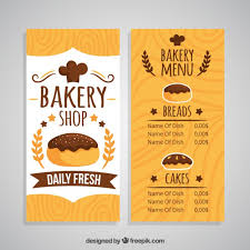 Hand Drawn Bakery Shop Menu Template Vector Free Download