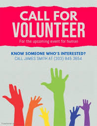 Volunteer Flyers Samples Create The Perfect Design By Customizing Easy To Use