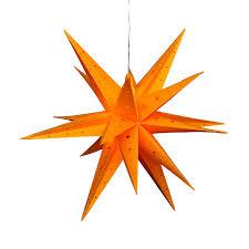 Kunststoff Stern Gelb Falkensteiner Adventsstern Wetterfest Inkl Led Beleuchtung 60 X 60 X 60 Cm 18 Spitzen