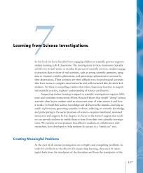 Designing Effective Science Instruction What Works In Science Classrooms 7 Learning From Science Investigations Ready Set Science