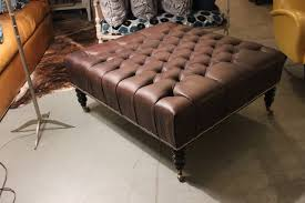 oversized leather ottoman.  Leather Oversized Leather Tufted Ottoman With T