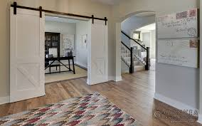 entryway office barn door. Office With Farmhouse Sliding Barn Doors Gonyea Homes And Remodeling Entryway Door