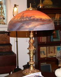 Painting Glass Lamps Antiquescom Classifieds Antiques Antique Lamps And Lighting