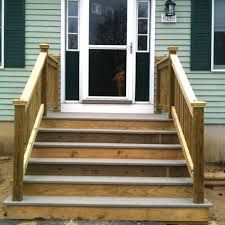 wooden steps with landing reaping a harvest