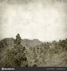 textured old paper background with landscape of west part of gran canaria photo by tamara k