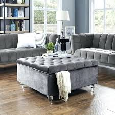 modern velvet on tufted storage ottoman coffee table vs square leather