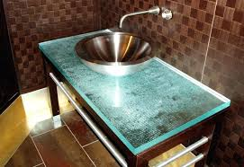 glass top vanity bathroom vanities bathrooms counter within decor 5