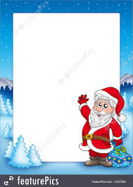 christmas santa borders and frames.  Christmas Christmas Frames And Border Frame With Santa Claus 2  Color  Illustration And Borders Frames