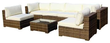 outdoor patio furniture sofa all weather wicker sectional 7 piece couch set contemporary outdoor lounge sets by mangohome