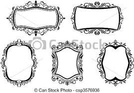antique picture frames vector. Vintage Frames - Csp3576936 Antique Picture Vector