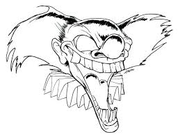 Amazing Design Ideas Evil Clown Coloring Pages Eye Drawings Of