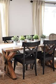 ... Dining Tables, Enchanting Light Brown Rectangle Rustic Wooden Farm  Dining Room Table Stained Design With ...