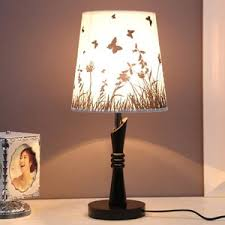 Bedside Lamps For Girls And Fabric Shade E27 Lamp Holder