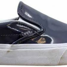 vans classic slip on gray tumble patent vn0003z4iwp men s size 7