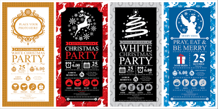 holiday prints parties promos team avalon christmas party invitation card sets