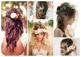 Coiffure Long Detaché Fleurs De Cheveux Elégant Excellent