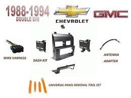 chevy gmc suv full size trucks 1988 1994 double din dash kit, wire 1996 Chevrolet Wiring Harness at Remove 1988 Chevy Wiring Harness
