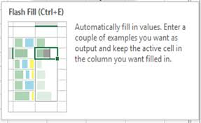 Data Retrieval Chart Example New Feature Excel Flash Fill Use It For Quick Data Retrieval