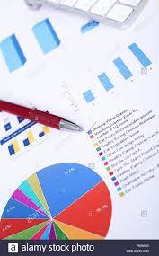 Paper Pie Chart On Money Stock Photos Paper Pie Chart On Money