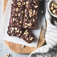 Nutella Topped Brownies No Bake Hazelnut Ganache Brownies Gluten Free Vegan Refined