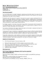 Maintenance Manager Resume Resume