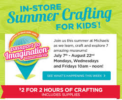 crafts classes for kids flyers michaels arts and crafts canada offers 2 in store craft classes