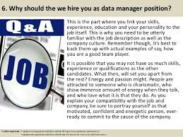 job description data manager top 10 data manager interview questions and answers