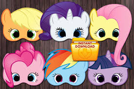 Small Picture 6 My little pony printable masks Birthday Party Custom DIY