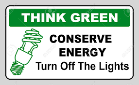 Turn Off Lights Stickers Free Think Green Conserve Energy Turn Off The Lights Vector Illustration