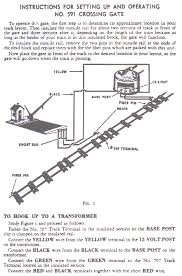 wireing diagram for american flyer steam locomotive 591 crossing gate