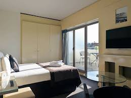 privilege room with terrace view of notre dame basilica and 1 double bed