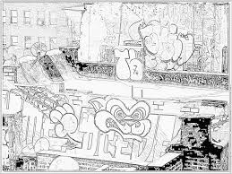 Coloriage American Graffiti New York City Imprimer Pour Les