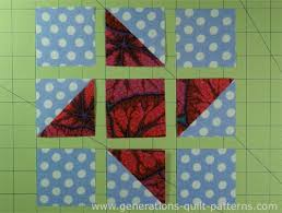 Friendship Star Quilt Block Instructions in 5 sizes & Lay out the units in rows Adamdwight.com