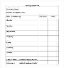 Timesheet Template Microsoft Word Weekly Timesheet Template Word ...